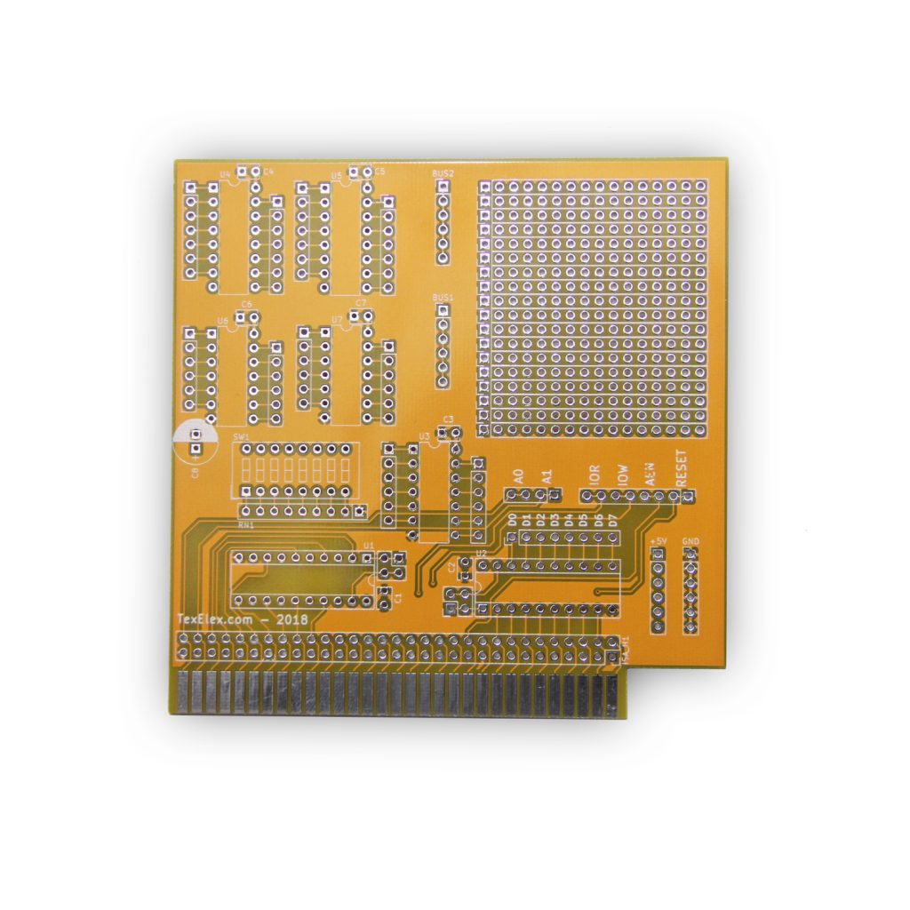 8 Bit ISA Prototype Card v1.0 (PCB Only)